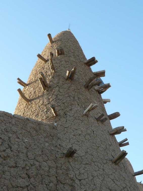Detalle de una mezquita en Toumbuctú