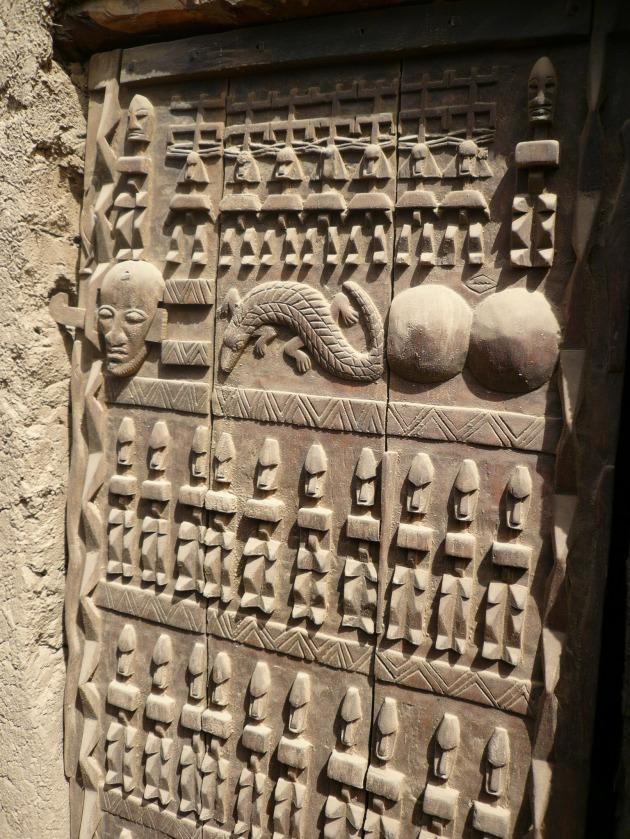 Puerta típica Dogón